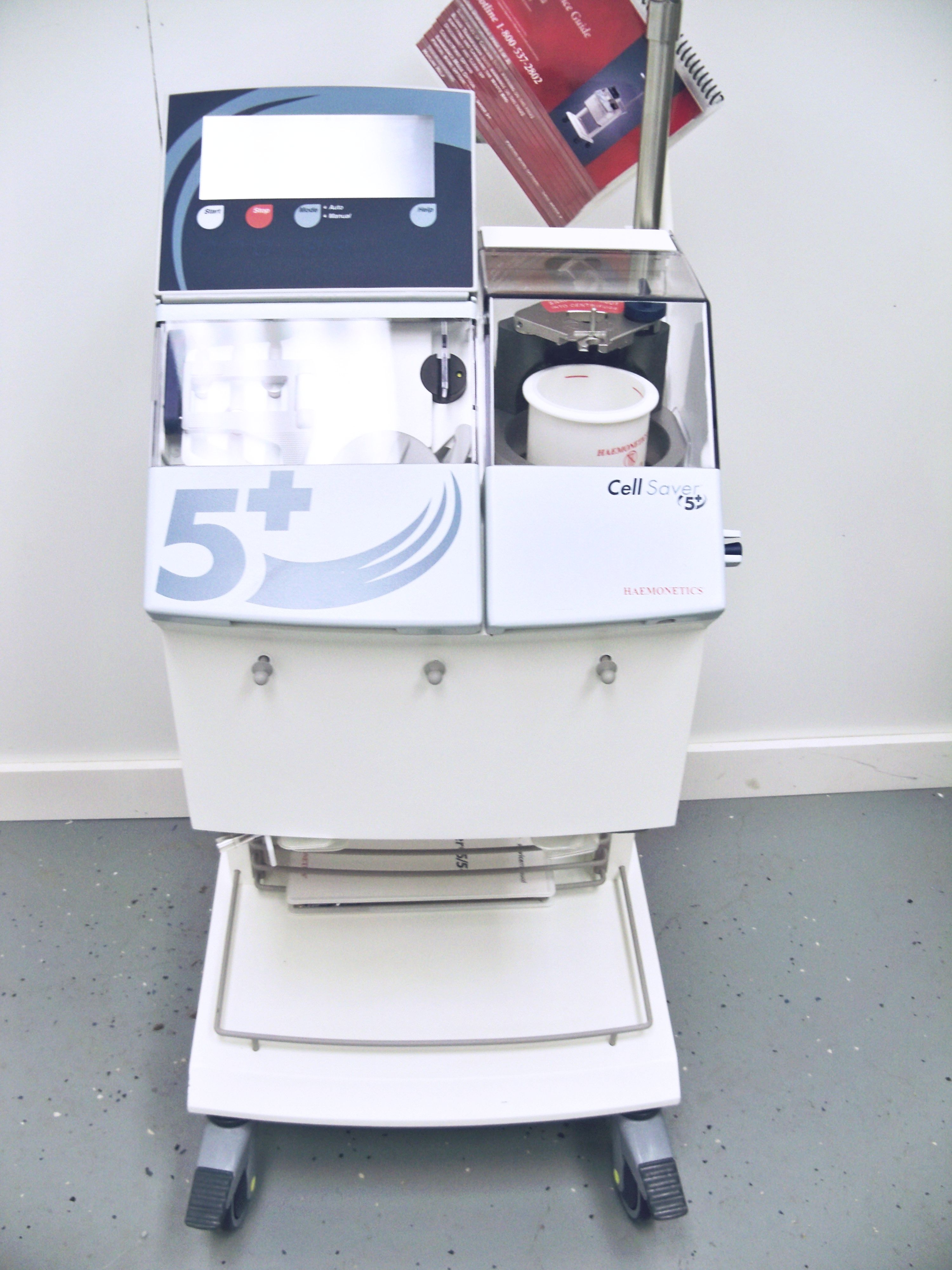Used haemonetics cell saver 5 autologous blood recovery system.